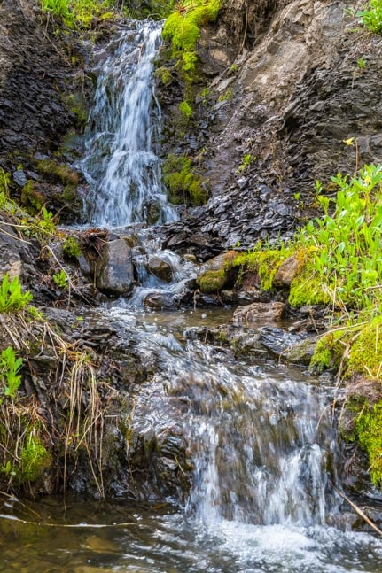Waterfall Glacier National Park Montana RV trip-min