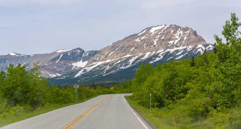 Scenic drive East Glacier National Park Montana RV trip-min