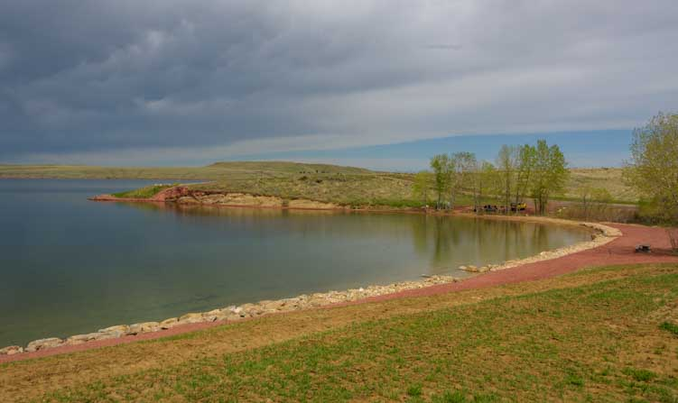 De Smet Lake State Park RV camping in Wyoming-min