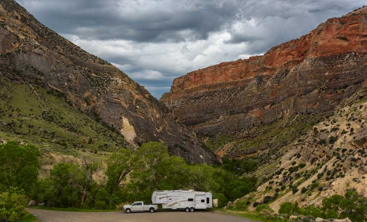 RV camping trip to Wyoming Bighorn Mountains-min