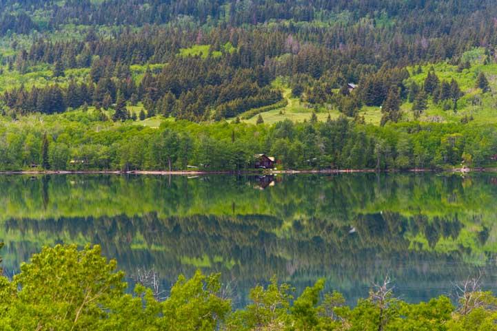 Reflections Lower St Mary Lake Glacier National Park Montana-min