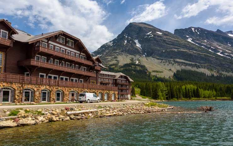 Many Glacier Hotel Glacier National Park Montana-min