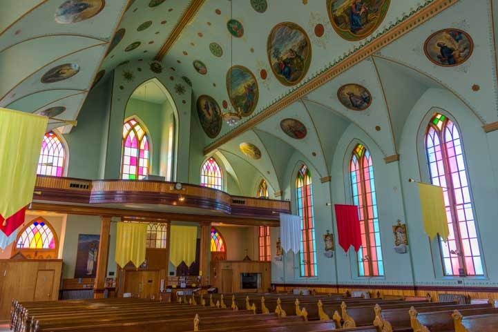 Interior of the St. Ignatius Mission in Montana-min