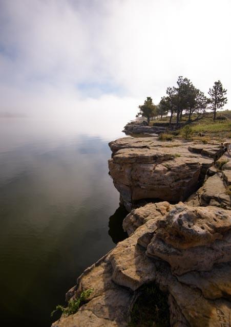 Foggy morning Keyhole State Park RV trip-min
