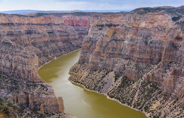 Devil's Overlook Horseshoe Bend Bighorn Canyon National Recreation Area RV trip Montana and Wyoming RV trip-min