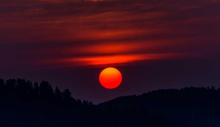 Sunrise Big Horn Mountains Wyoming RV trip-min