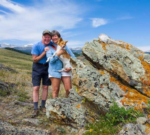 Family portrait Big Horn Mountains Wyoming RV trip-min
