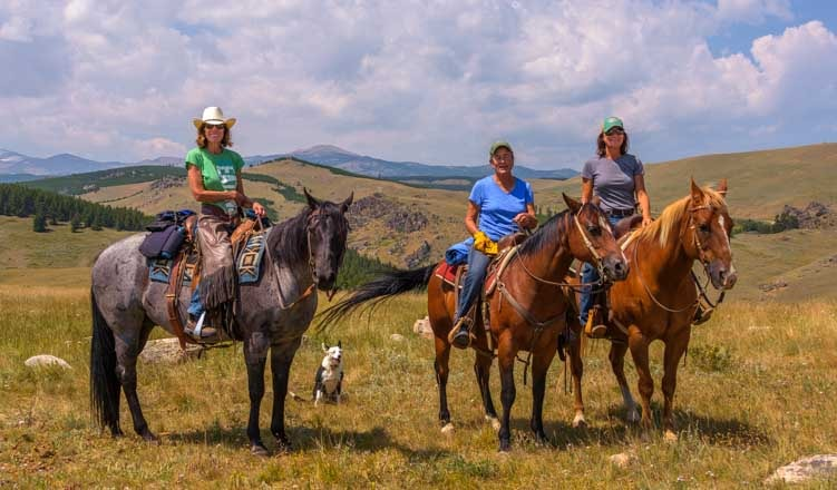 Horseback riders Big Horn Mountains Wyoming RV trip-min