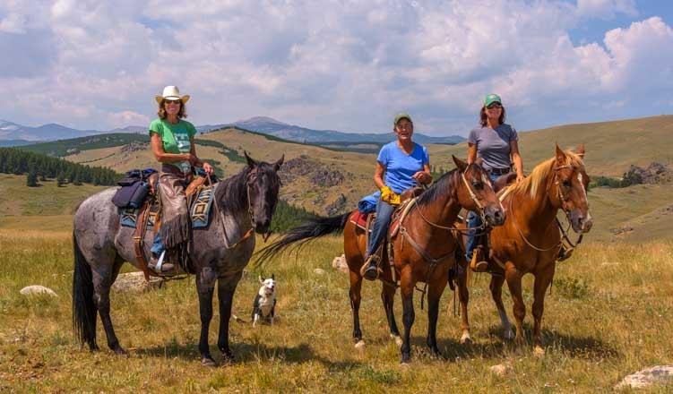 Horseback riders Big Horn Mountains Wyoming RV trip-min