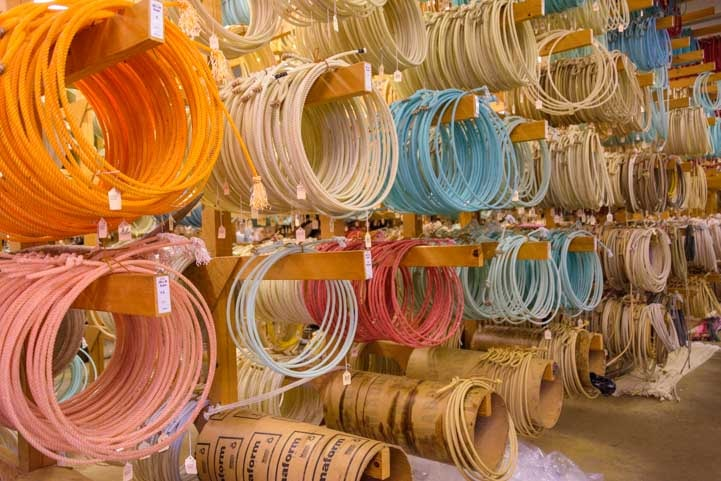 Cowboy Ropes for sale at King's Saddlery Sheridan Wyoming RV trip-min-min