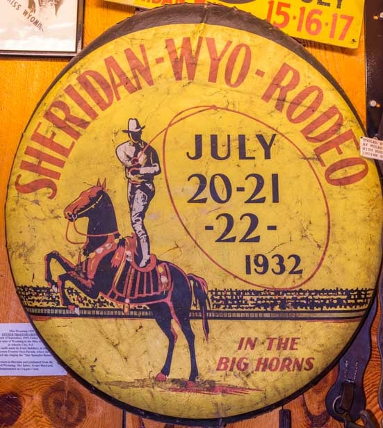 Poster for Sheridan Wyoming Rodeo from 1932-min