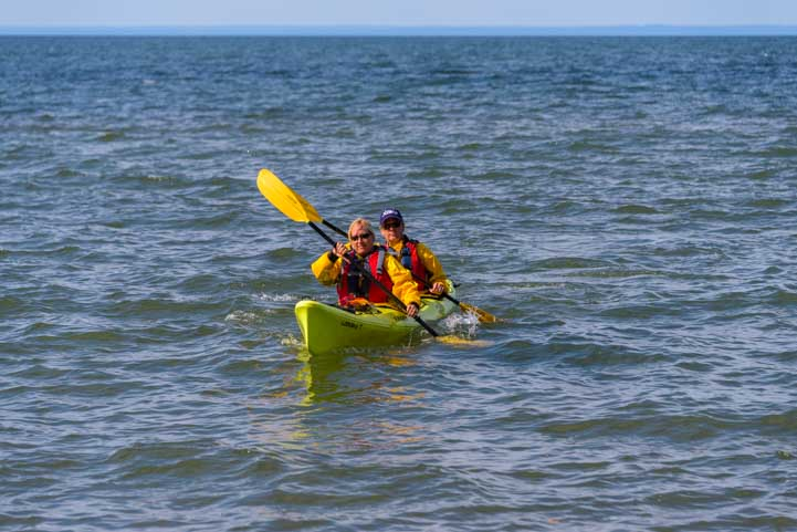 Kayak on Lake Superior in Wisconsin-min