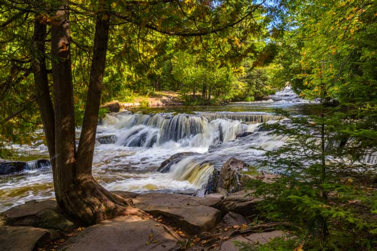 Michigan Upper Peninsula Waterfalls Bond Falls_-min