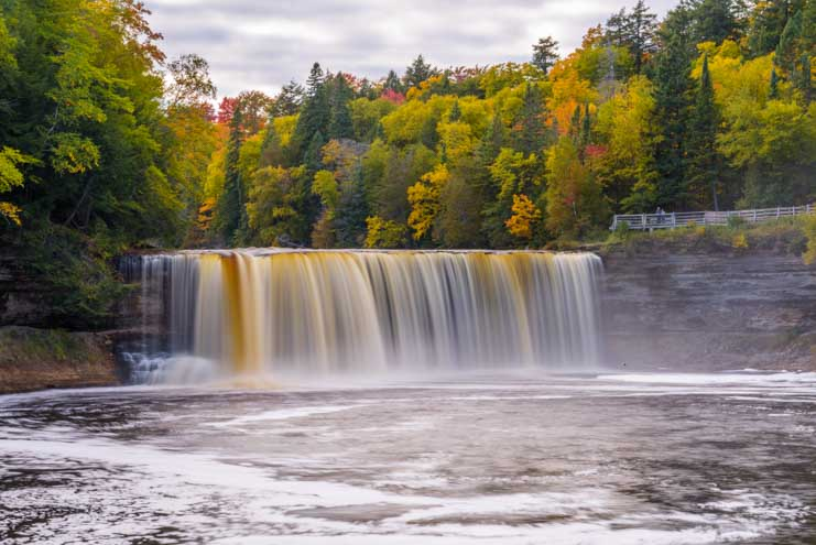 Taquamenon Falls Michigan Upper Peninsula Waterfall-min