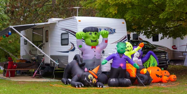 Halloween Camping In Michigan