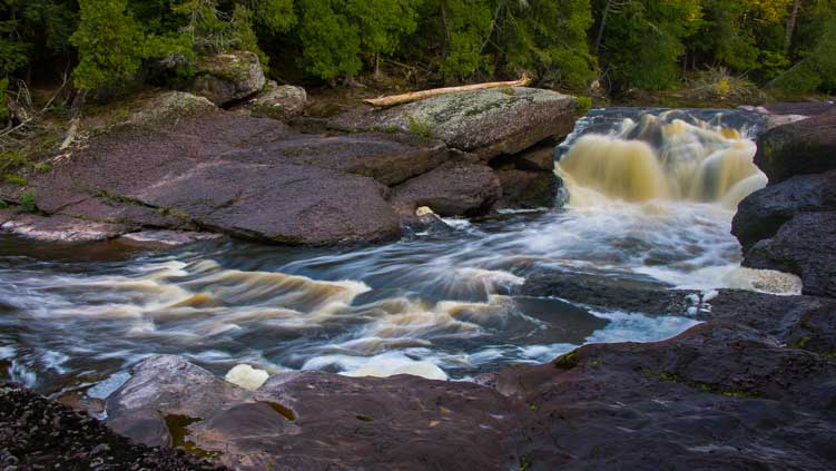 Sandstone Falls Black River Michigan-min