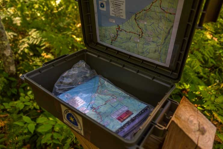 Trail box North Country Trail Black River Harbor Michigan-min