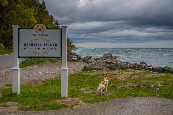 Mackinac Island State Park Michigan stormy day-min