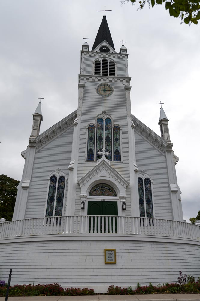 Church at Mackinac Island Michigan-min