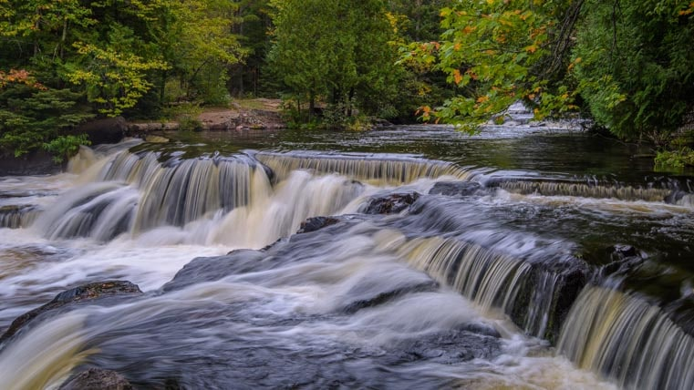Bond Falls Michigan Upper Peninsula-min