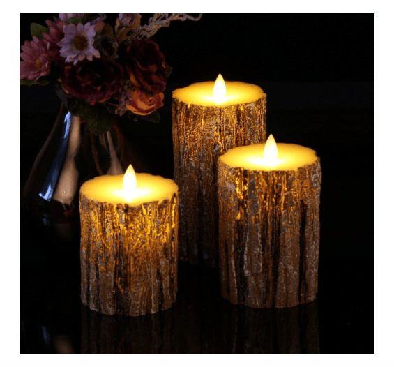 Flickering LED flameless candles-min