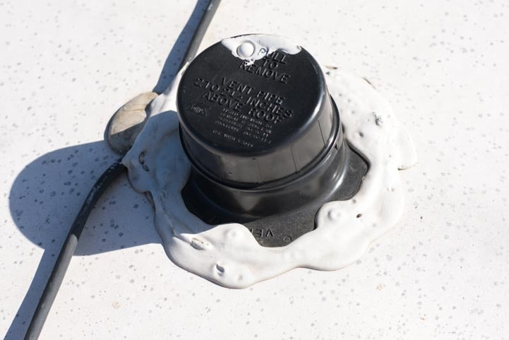 RV roof black tank vent repair completed-min