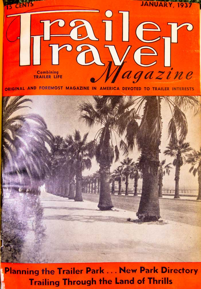 Trailer Travel Magazine 1937 Cover photo RV-MH Hall of Fame and Museum Elkhart IN-min