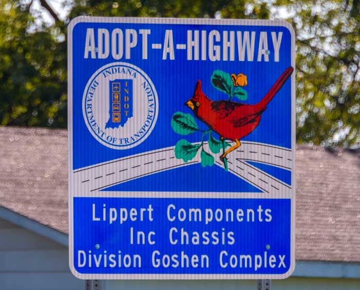 Adopt-a-Highway Lippert Components Inc Elkhart Indiana-min
