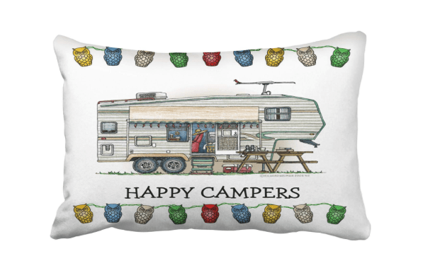Happy Campers fifth wheel trailer sofa cusion pillow case-min
