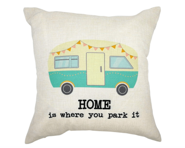 pillowcase cover Home is where you park it-min