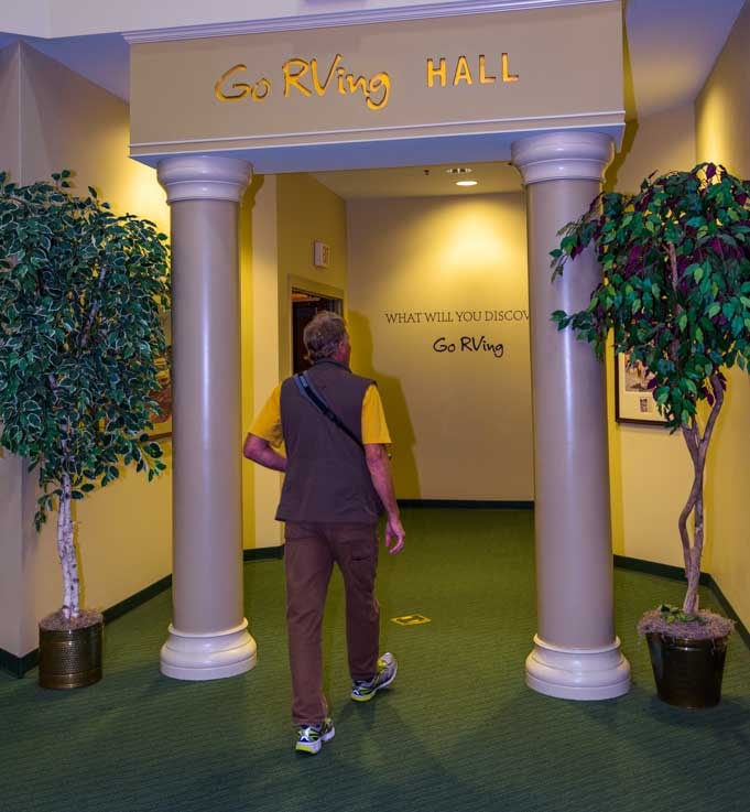 Entering the GoRVing Hall in RV-MH Hall of Fame Museum-min
