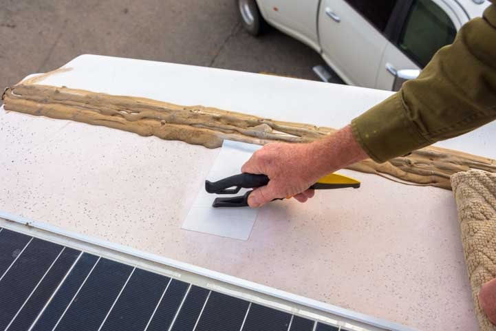 Seal the Patch repair of RV rubber roof tear-min