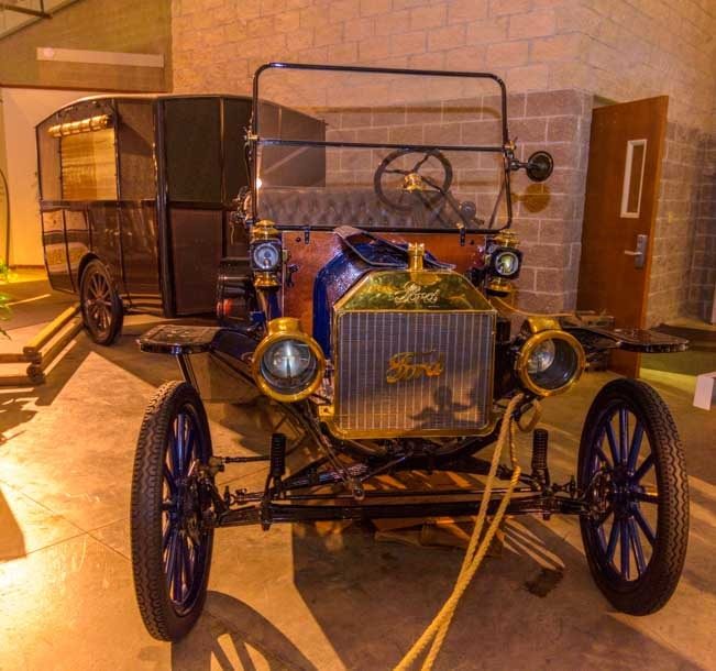 1913 Model T Ford and Earl Travel Trailer-min