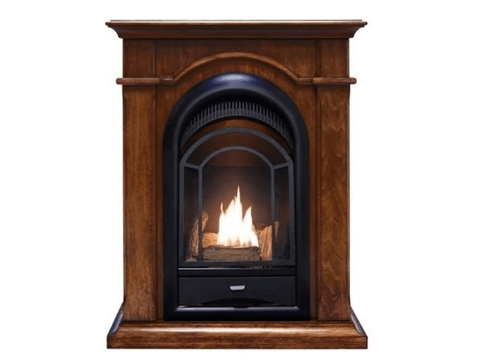 ProComm Propane Fireplace with mantel-min