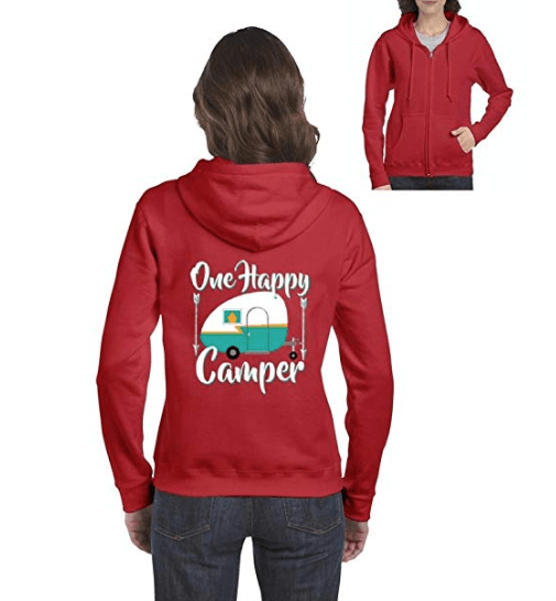 One happy camper hoodie sweatshirt for women-min