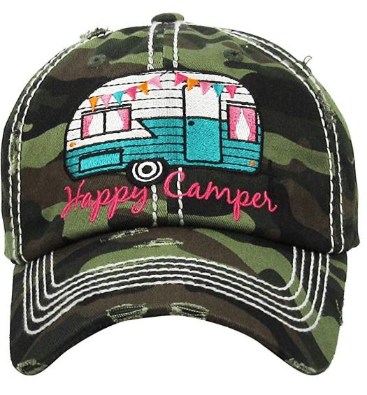 Vintage RV Happy Camper ballcap-min