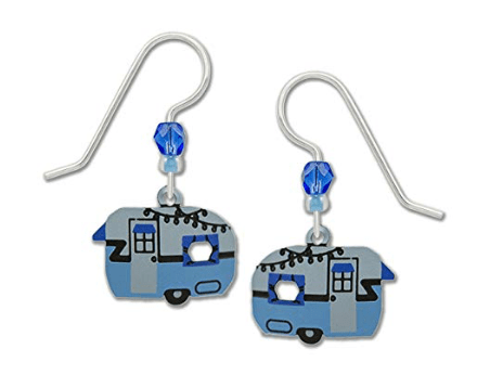 Retro trailer RV earrings-min