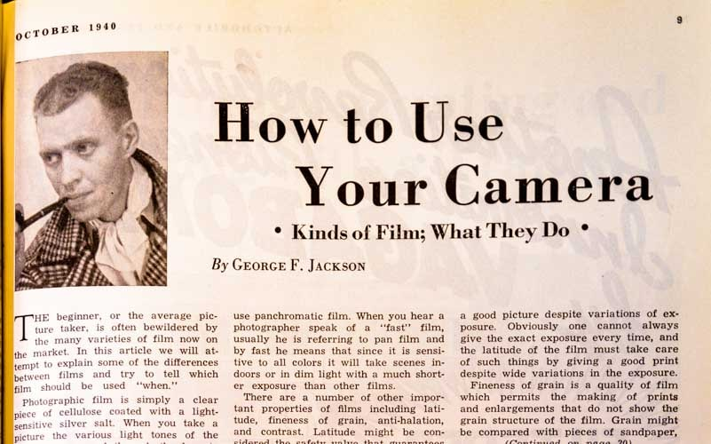 Trailer Travel magazine 1940 How to Use Your Camera-min