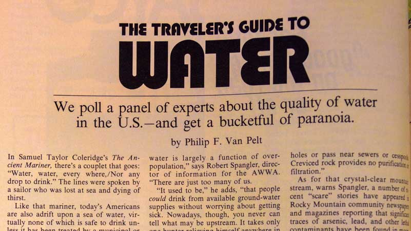 Trailer Travel magazine 1977 The Traveler's Guide to Water-min