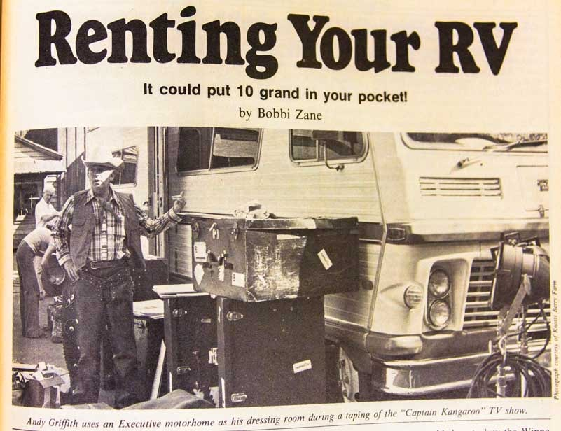 Renting Your RV 1977 Trailer Travel Magazine RV-MH Hall of Fame and Museum Elkhart IN-min