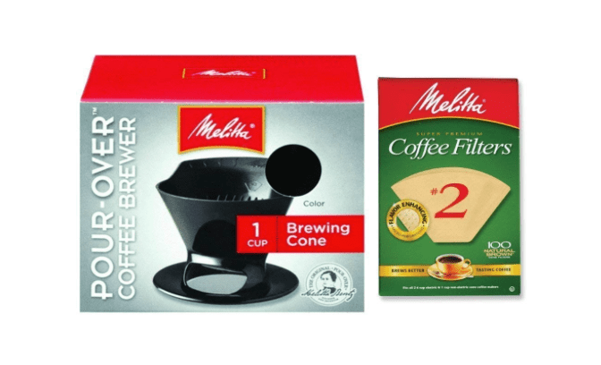 Melitta pour over coffee filter and paper filters-min