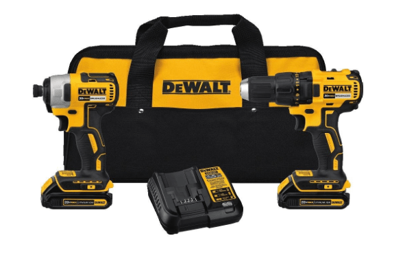 Dewalt Cordless Drill and Impact Driver Kit with bag-min