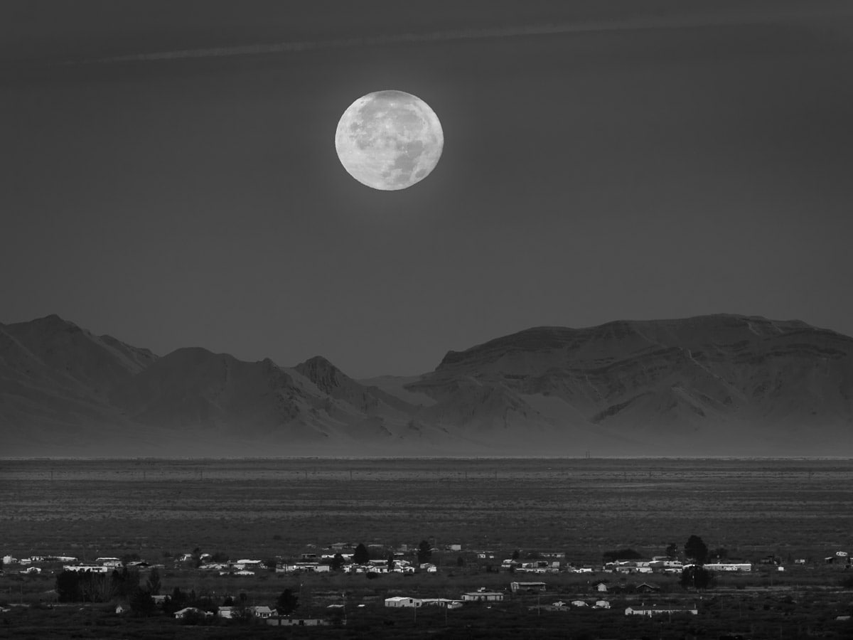 Moonrise over Alamagordo New Mexico