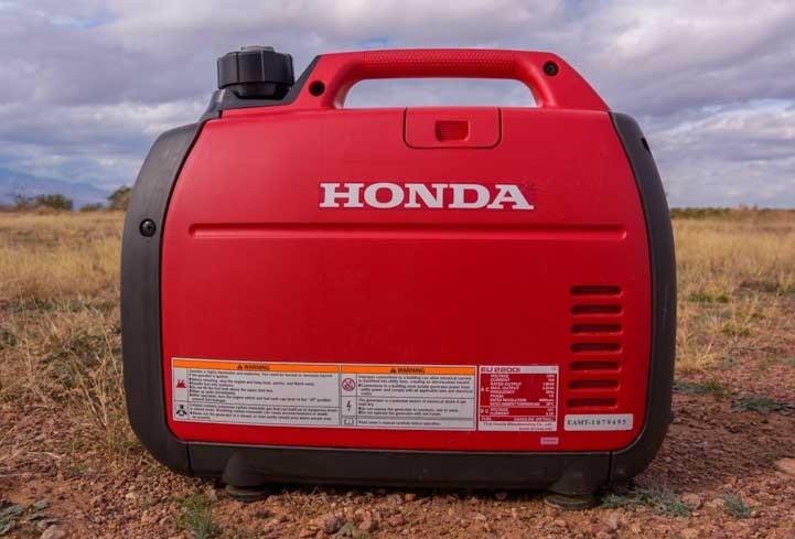 Honda EU2200i Generator back side-min