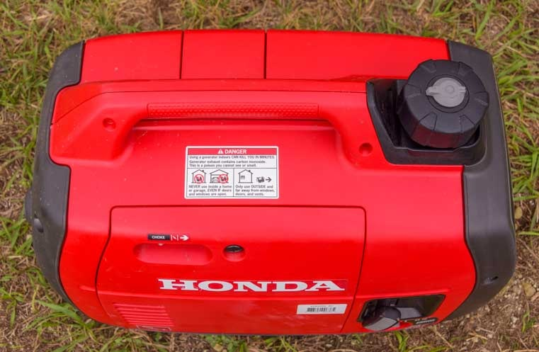 Honda EU2200i portable generator RV camping top view 1-min