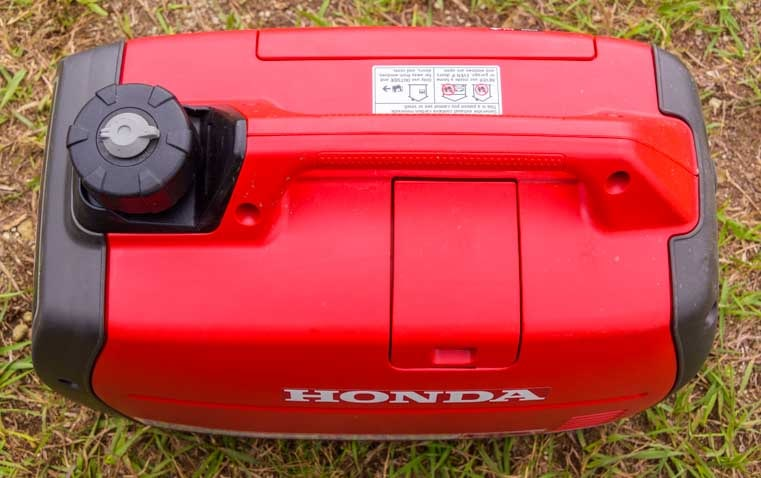Honda EU2200i portable generator RV camping top view 2-min