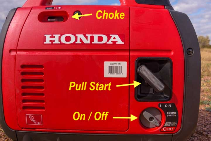 Honda EU2200i Generator front side-min