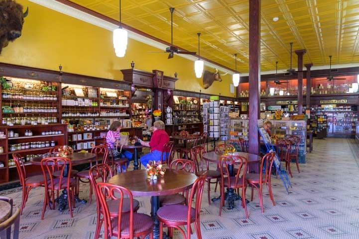 Inside Sander's Drug Store Albany Texas RV trip-min