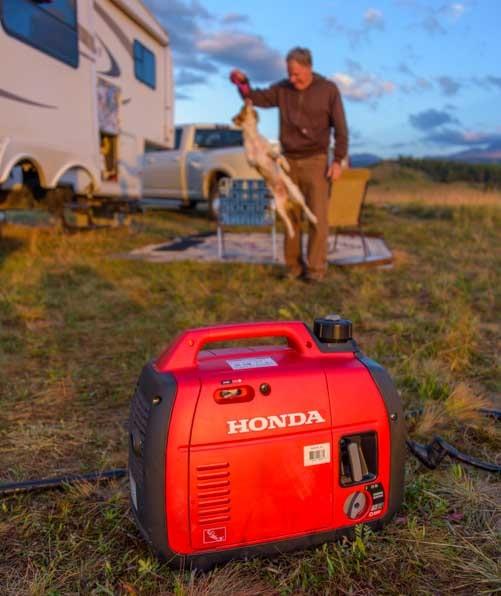 RV camping with a Honda EU2200i Generator-min