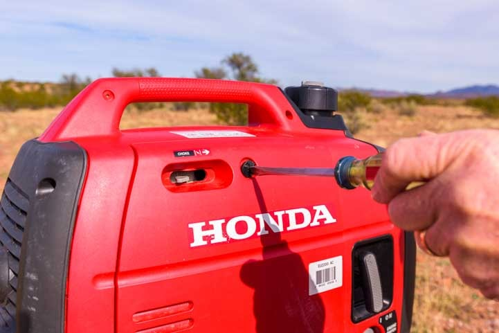 Opening a Honda EU2200i Generator to change the oil-min